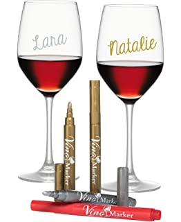 vino marker metallic wine glass washable pens 4 pack perfect present or