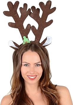 Marrone renna corna Natale Rudolph Festa Costume Accessorio