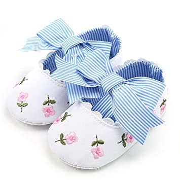 Amazon Com Cute Infant Baby Girls Embroidery Flower Moccasins Anti