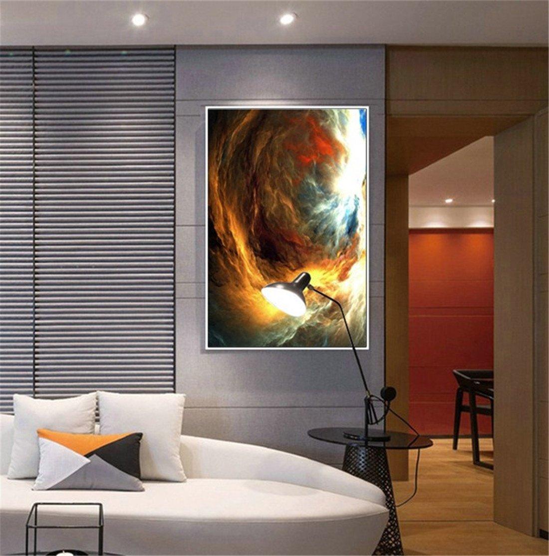 Barato Bing BINGConcha Nebulosa Moderna Corredor Vertical Pintura Abstracta Dormitorio Restaurante Pintura Mural Sala de Estar Pintura Decorativa Pintura Decorativa (75  50cm)