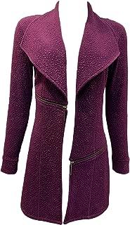 product image for Eva Varro Barcelona Long Jacket DEEP Purple Pebbles