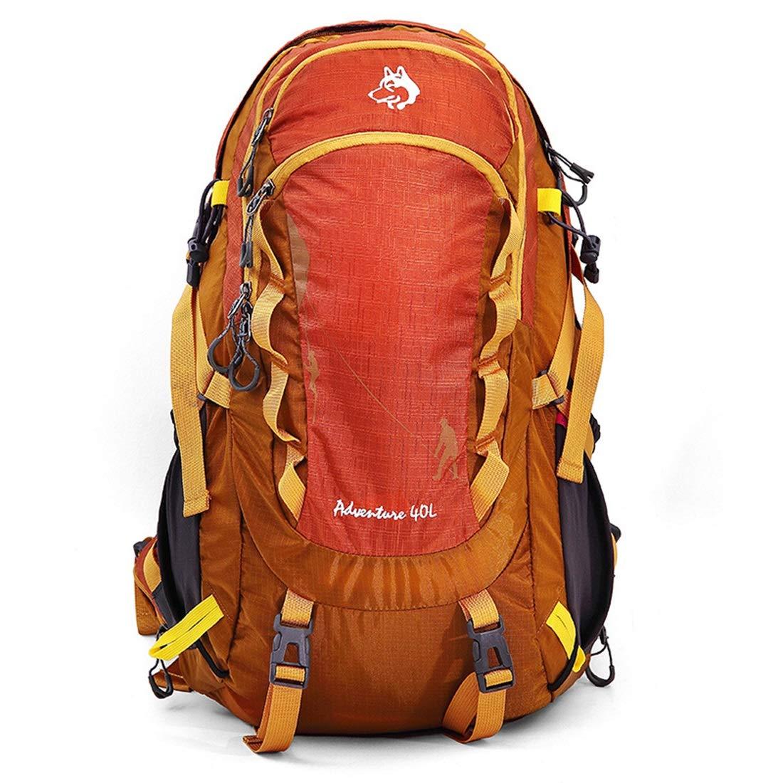 CAFUTY 登山バックパック防水大容量野生のキャンプ旅行でのレジャースポーツ中立男性と女性の多機能ショルダーアウトドア用に適した (Color : オレンジ)   B07P6KRNX5