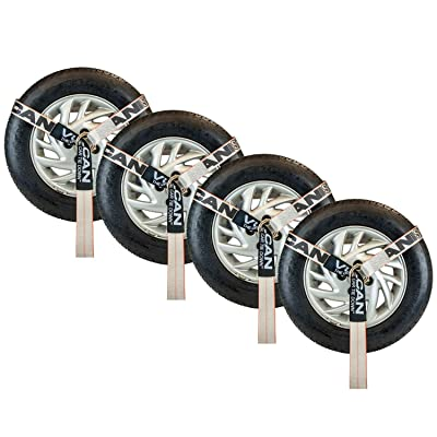 VULCAN Lasso Style Wheel Dolly Tire Harness with Universal O-Ring - 2 Inch x 96 Inch, 4 Pack - Silver Series - 3,300 Pound Safe Working Load: Home Improvement [5Bkhe1514273]