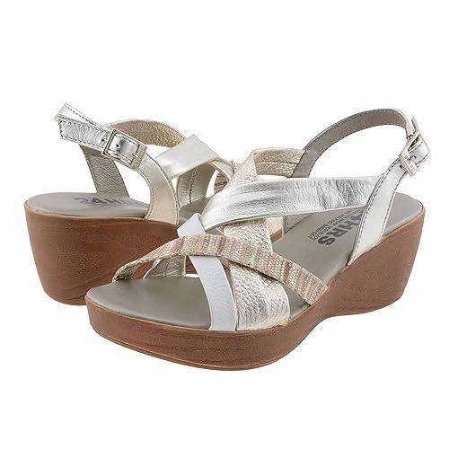 cdc7dd1a Sandalias piel 23304 24 Horas Talla: 41 Color: TAUPE: Amazon.es: Zapatos y  complementos