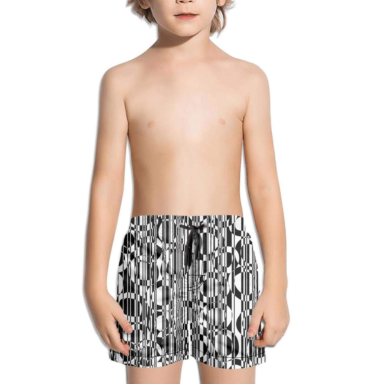 uejnnbc Trendy Checkerboard Abstract Black Circles Plain Core Beach Swim Shorts