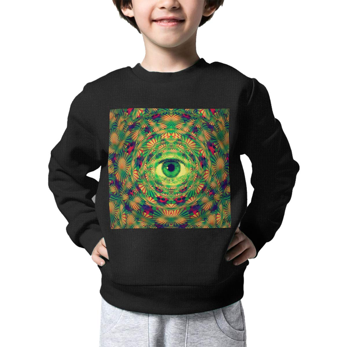 Tunnelvision Art Kids Pullover Sweater Funny Crew Neck Knitted Sweater for 2-6T