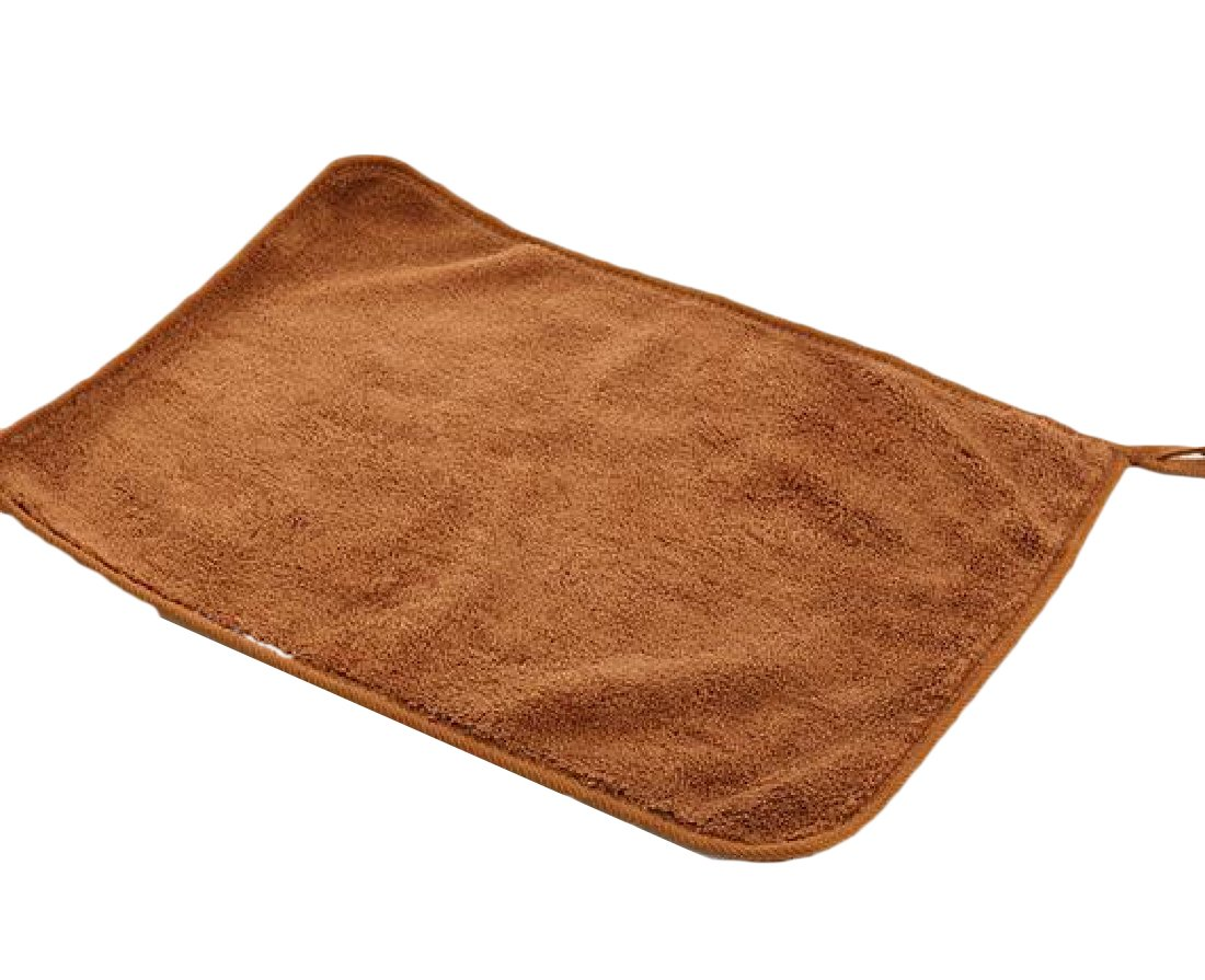 Winwinus Superfine Fiber Chenille Safely and Easily Multi-purpose Drying 12'' x 16'' Auto Cloth 3 Pack Brown OS