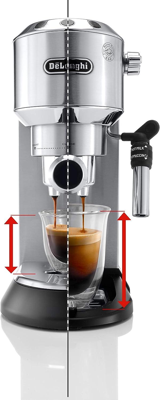 Cafetera de bomba Delonghi Dedica EC685.W blanco capuccinatore acero inoxidable caf/é molido o monodosis sistema anti-goteo dep/ósito 1,3 litros