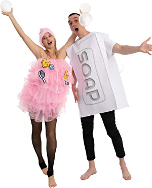 Loofah and Soap Costume for Adult Group or Couples, Halloween Dress Up, Role-play, Carnival Cosplay
