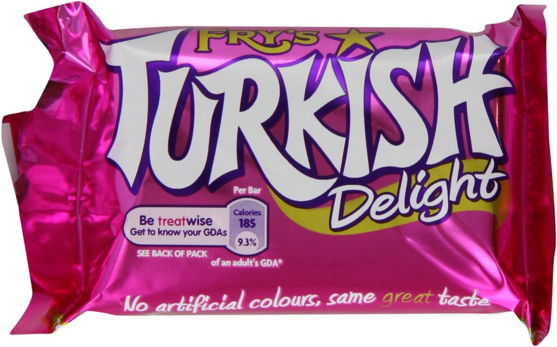 Frys Turkish Delight Chocolate Bar 51 g (Pack of 48): Amazon.es: Alimentación y bebidas