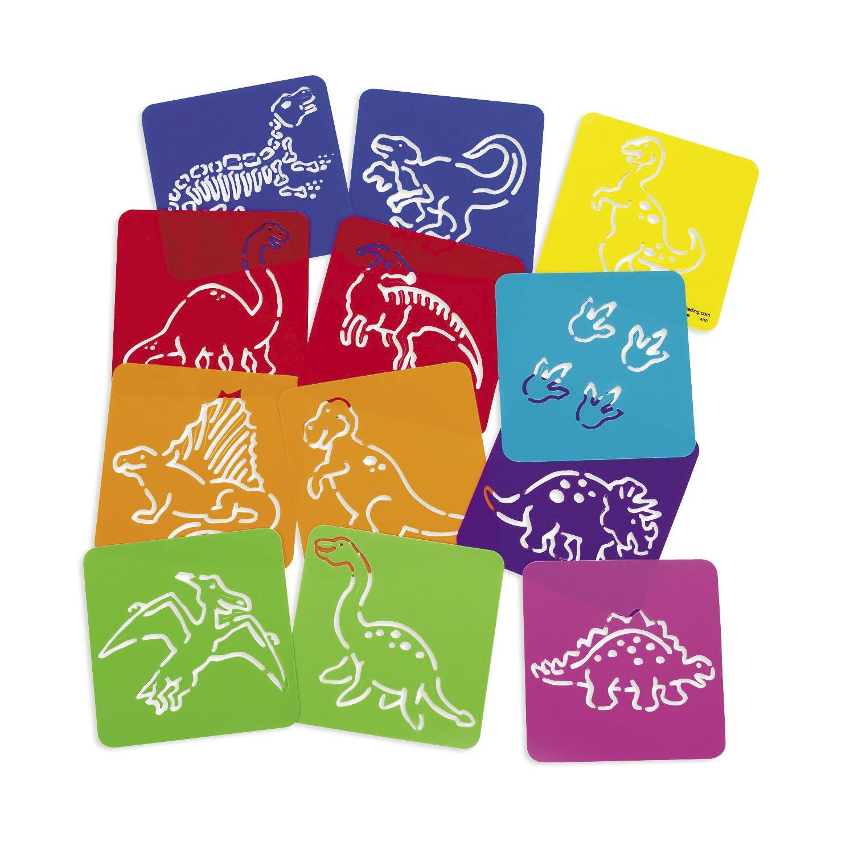 Dinosaurier Schablonen 12 Stück Dino Party Zeichenschablone Mitgebsel Palandi® cama24com