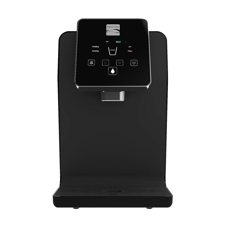 Kenmore Water Dispenser Optimizer (Black) - Countertop Water Cooler • Sterilizer • Botteleless Water Dispenser