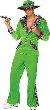 Morph Disfraz para Hombre de chulo Verde Traje de Terciopelo ...
