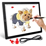 A4 LED Light Pad Light Board for Diamond Painting - Ultra-Thin Magnetic Tracing Light Box with USB Powered for Artists…
