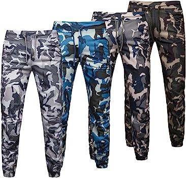 Hombres Pantalones Chandal Jogging Casual Estampado de Camuflaje ...