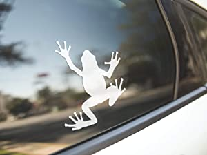 PotteLove Frog Toad Bullfrog, Reptile Amphibian Animal Pet, Marine Biology Biologist, Vinyl Sticker Decal Bumper Laptop Car Vehicle Window Art Decor, 5 Inches Height