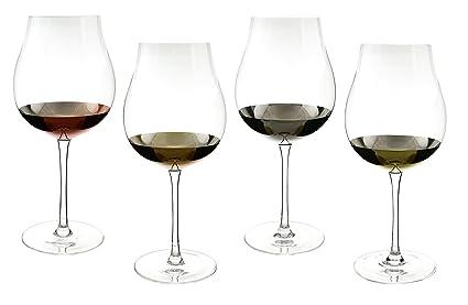 683397439b6 Amazon.com: Tulip Wine Glass Goblets with Multi Metallic 26 oz ...