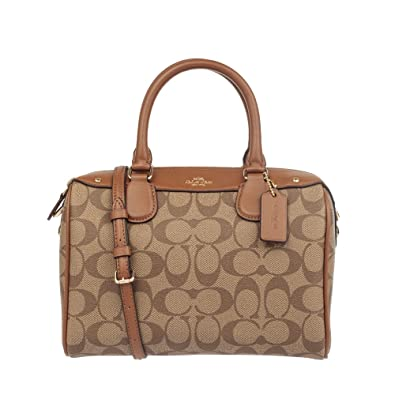 f400284c73623 Amazon.com  Coach Mini Bennett Satchel Handbag Signature Khaki ...