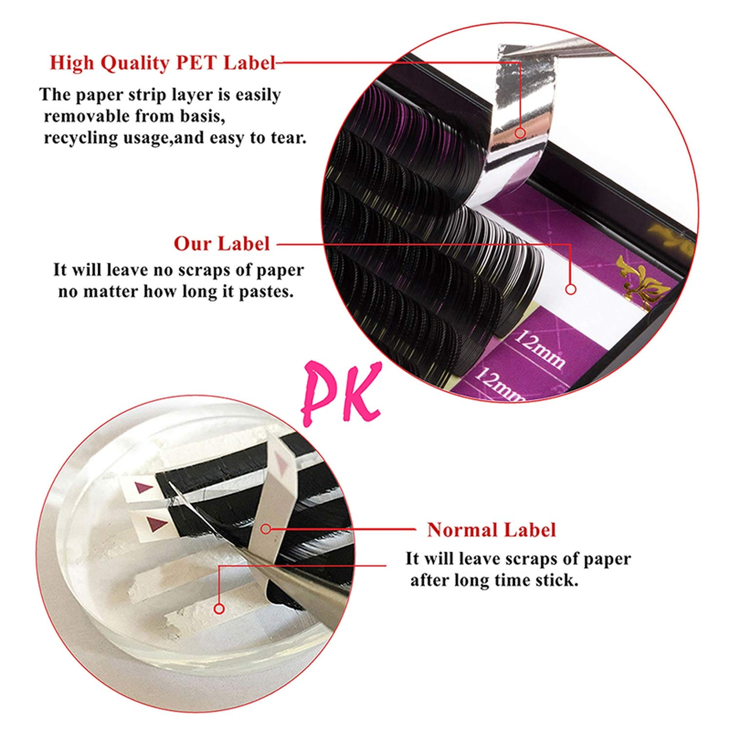 Amazon.com : 16Rows Faux mink soft mink individual eyelash extension lashes maquiagem cilios for professional perfect use, C, 0.12mm, 16mm : Beauty