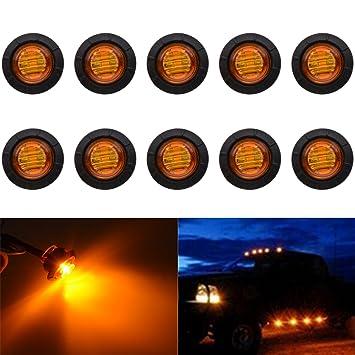 10x 24v Led Bernstein Orange Seite Marker Lichter Lampe für Anhänger Lkw