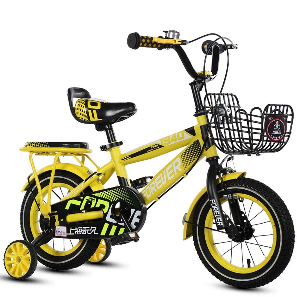 CSQ バスケット自転車、男の子、女の子自転車自転車小児パーソナル自転車2-11歳の赤ちゃん補助ホイール自転車88-121CM 子供用自転車 (色 : イエロー いえろ゜, サイズ さいず : 115CM) B07DXG5H3N 115CM|イエロー いえろ゜ イエロー いえろ゜ 115CM
