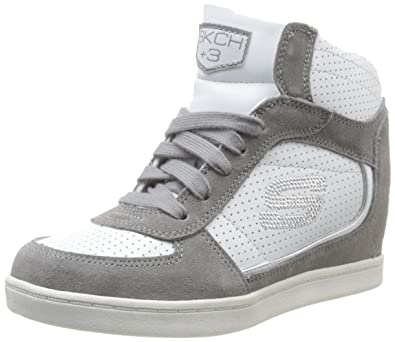 50016c46b6251 Skechers Women's Three-3-Peat Trainers Gray Gris (Gyw) 2.5 (35 EU):  Amazon.co.uk: Shoes & Bags