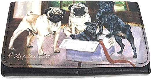 Pug Dog Wallet Designed by Ruth Maystead (4 1/4