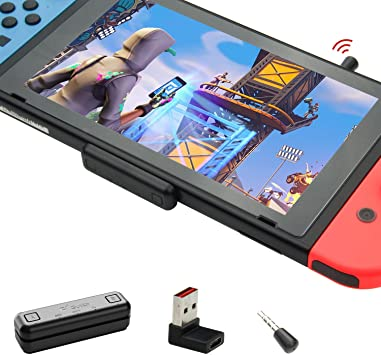 GULIkit Route Air Pro Adaptador Bluetooth para Nintendo Switch/Switch Lite PS4 PC, Transmisor Bluetooth Audio con aptX de Baja Latencia Compatible con Airpods Bose Sony y Auriculares Bluetooth: Amazon.es: Electrónica