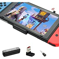 GuliKit Route Air Pro Bluetooth-adapter voor Nintendo Switch/Lite, Draadloze Bluetooth-audiozender met aptX Lage…