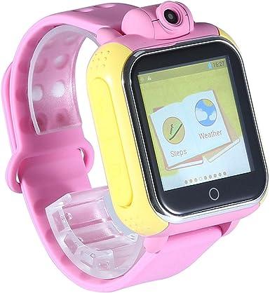 Kobwa actualizado GPS Tracker Kids Smartwatch muñeca SIM reloj teléfono móvil anti-lost SOS WCDMA niños pulsera Parent control para Apple Iphone IOS Android Smartphone mt6572 a Dual Core: Amazon.es: Coche y moto