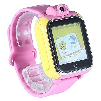 KOBWA Enfants Smartwatch, GPS Tracker Montre Connectée, Montre Téléphone pour Enfant Bracelet Intelligent SOS