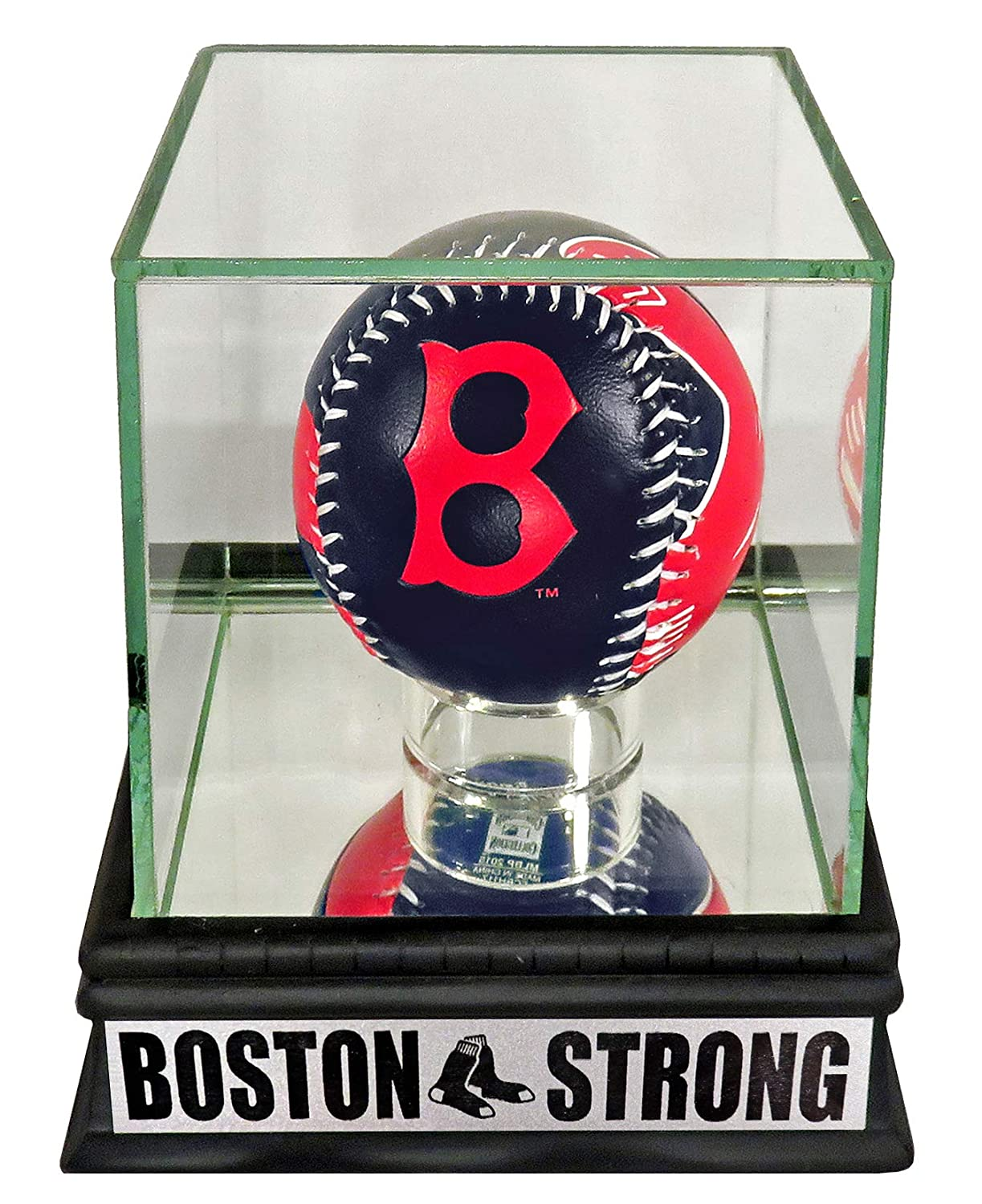 "Boston Red Sox ""Boston Strong"" Rawlings Logo Baseball Display Sports Gallery Authenticated"