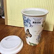 Amazon Com Lenox Butterfly Meadow Blue Thermal Mug White