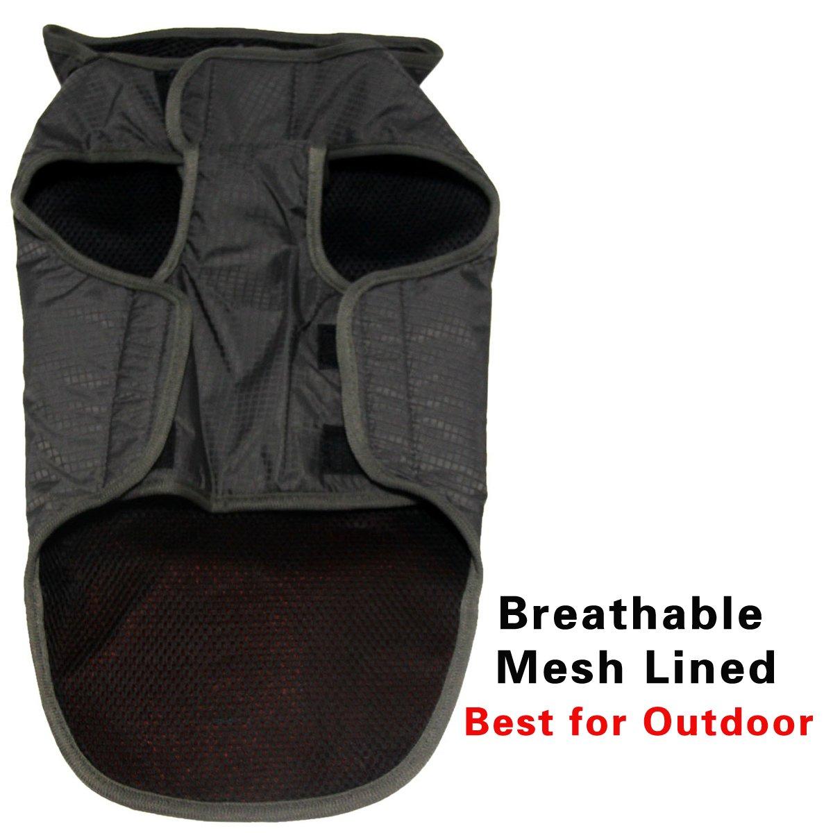 JoyDaog Premium Outdoor Sport Waterproof Raincoat Dog Jacket,Super Breathable Mesh Lined Dog Coats for Large Dogs, Orange XXXL by JoyDaog (Image #4)