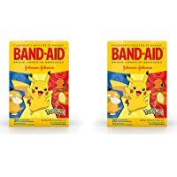 ( Brand Kids Adhesive Bandages for Minor Cuts Scrapes, Pokémon, Assorted Sizes, 20 ct - 2 Pack