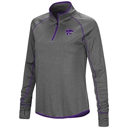 53352ffe Colosseum Womens Kansas State Wildcats Quarter Zip Wind Shirt