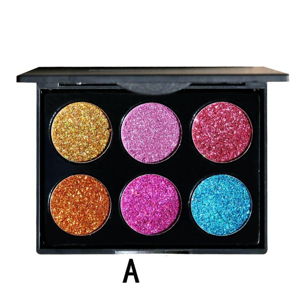 Cosmetic Eyeshadow ,Beikoard,Professional Fashion Shimmer Glitter Eye Shadow Powder Palette Matte Eyeshadow Cosmetic Makeup (A)
