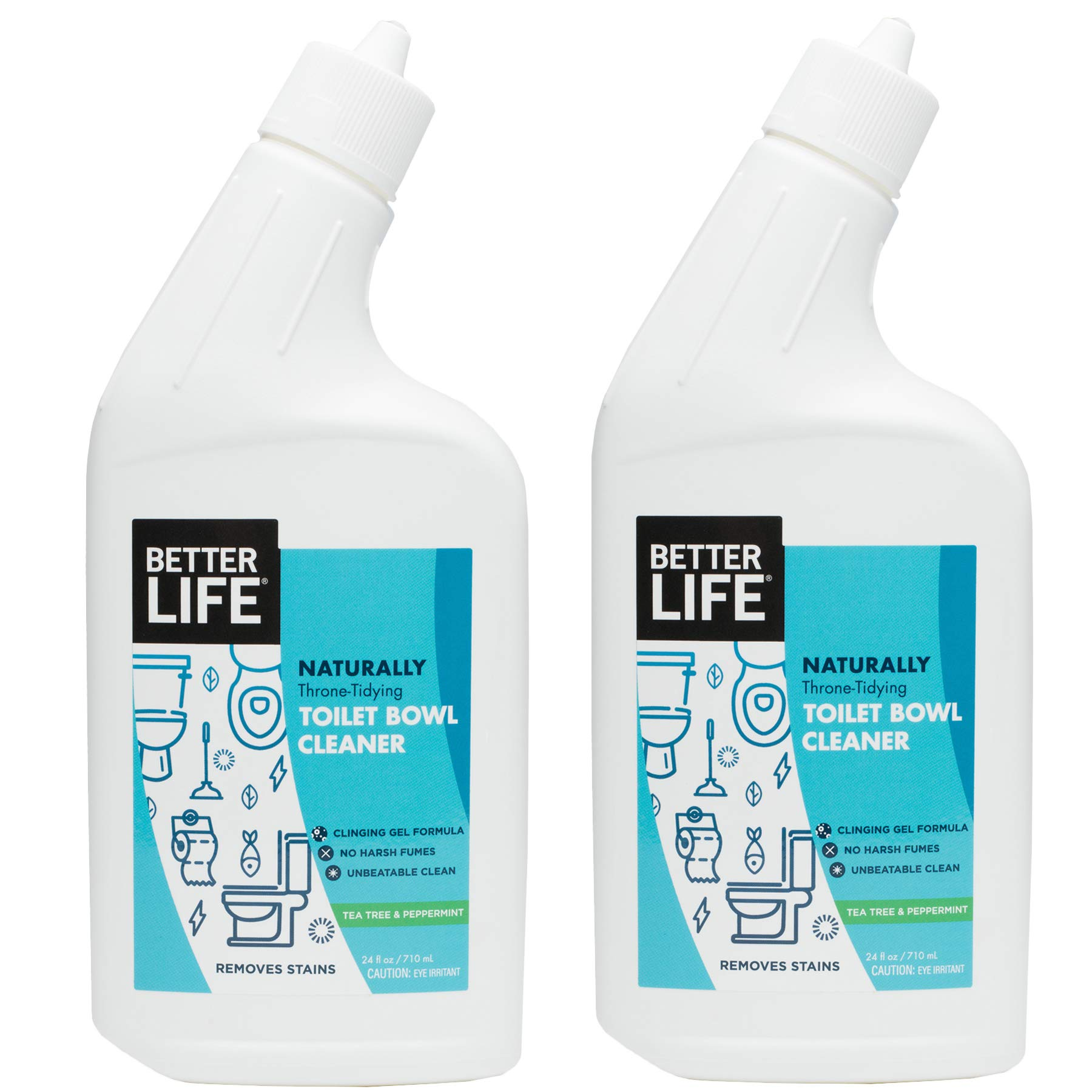 Better Life Natural Toilet Bowl Cleaner, 24 Ounce (Pack of 2) Tea Tree & Peppermint Scent by Better Life