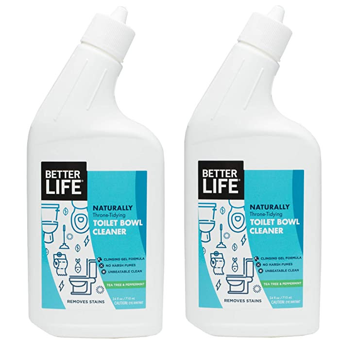 Better Life Natural Toilet Bowl Cleaner, 24 Ounce (Pack of 2) Tea Tree & Peppermint Scent