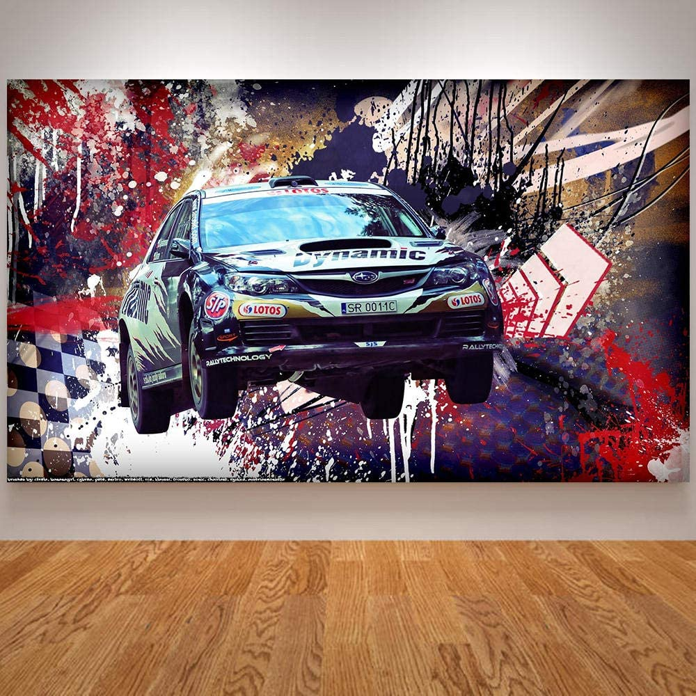 Flduod Imagen de Pared nórdica Sala de Graffiti Colorida Pintura al óleo Cosas extrañas Carteles Decorativos Lienzo Pared imágenes-50x70cm