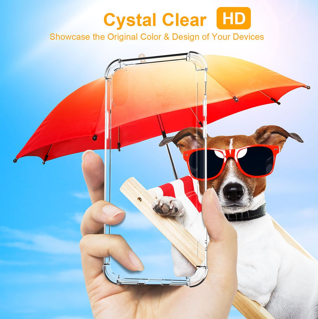 iPhone X Case,CLONG iPhone X Crystal Clear Shockproof Protective Cover Transparent Soft TPU Gel Cases for Apple iPhone X (2017) 5.8\
