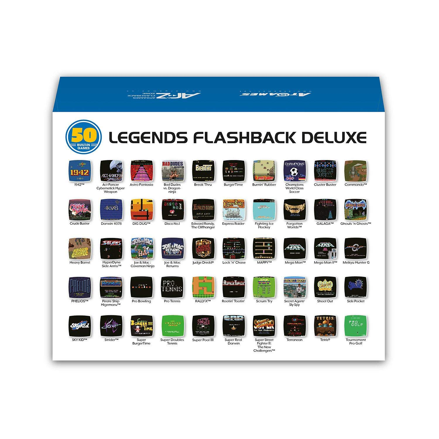Amazon.com: Flashback Deluxe Game Console with Bonus SD Card ...