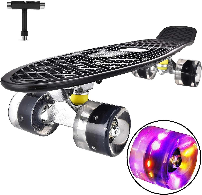 Details about  /22in Skateboard Complete Cruiser Decks Longboard Skate Plastic Kids Freehand Toy