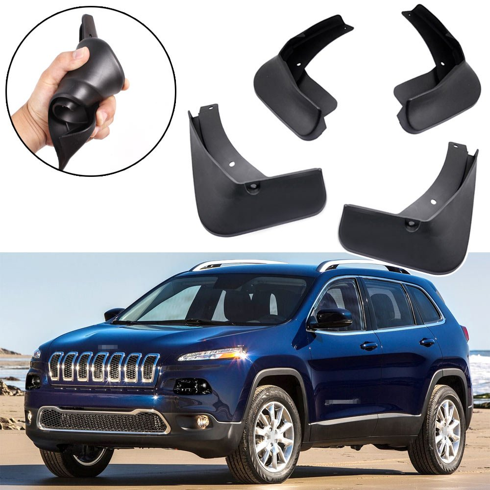SPEEDLONG 4Pcs Car Mud Flaps Splash Guard Fender Mudguard for Jeep Cherokee 2014 2015 2015 2017 2018