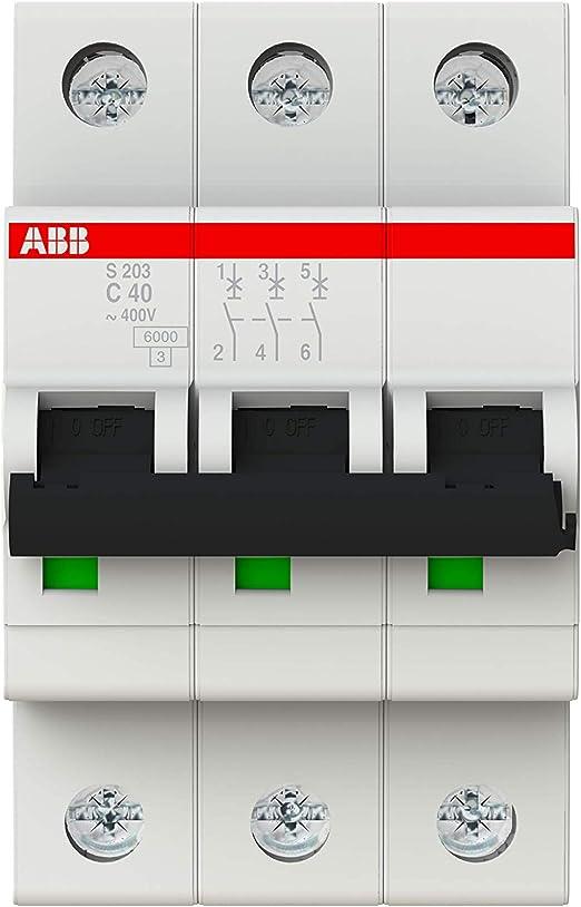 ABB S203-C40 - Instalación de fusible para caja de fusibles (40A): Amazon.es: Iluminación