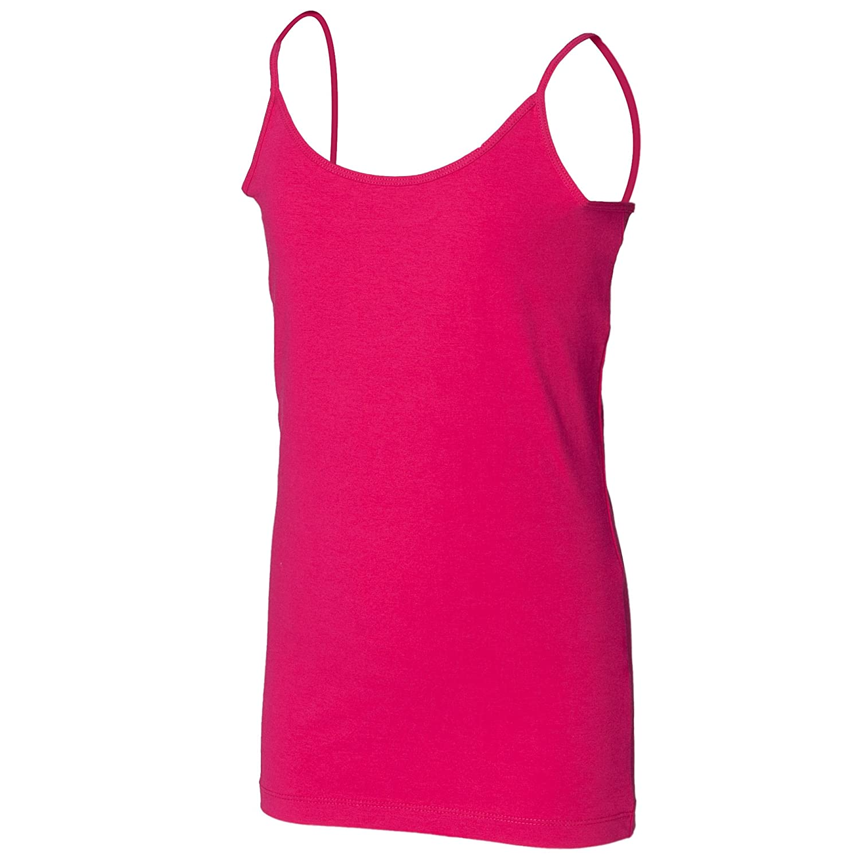 Skinni Minni Big Girls Long Length Spaghetti Strappy Vest Top