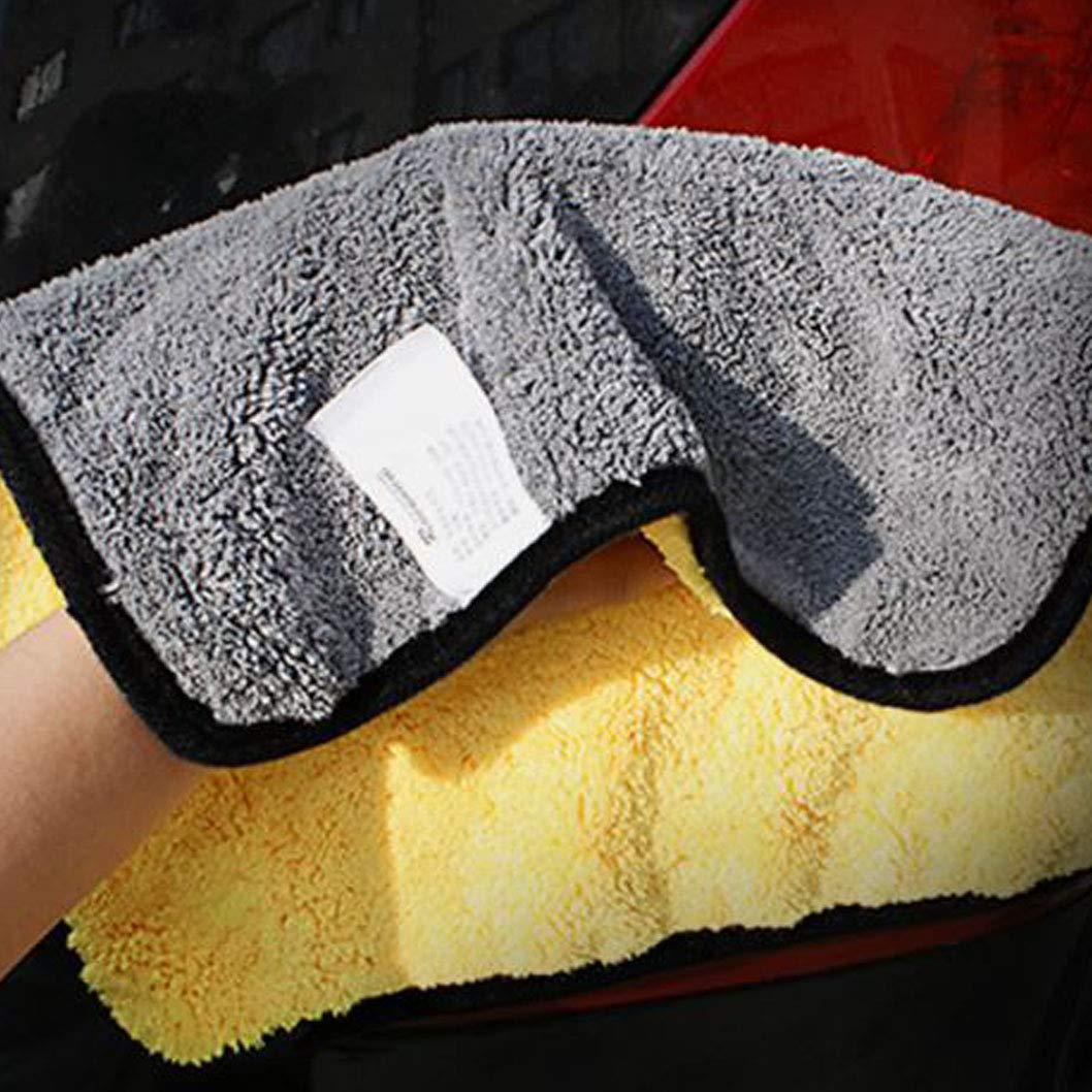 Aviss 洗車用クロス 850GSM 12インチ×12インチ 高吸収性 ヘアタオル 自宅やホテル用 2枚パック 12