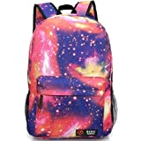 SKL New hot sale Galaxy backpack unisex school bag travel bag (Rose)