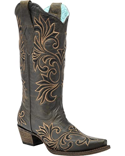 Amazon.com | Corral Women's Vintage Chocolate And Gold Cowgirl ...
