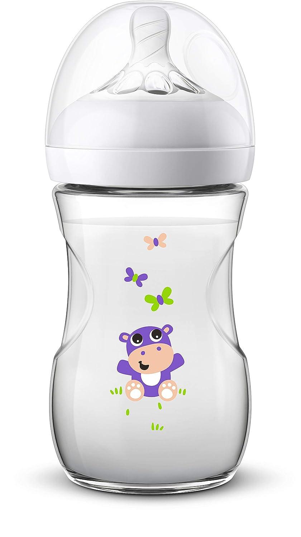 260 ml naturnahes Trinkverhalten Anti-Kolik-System Hippo 1er Pack Philips Avent Natural Flasche SCF070//22